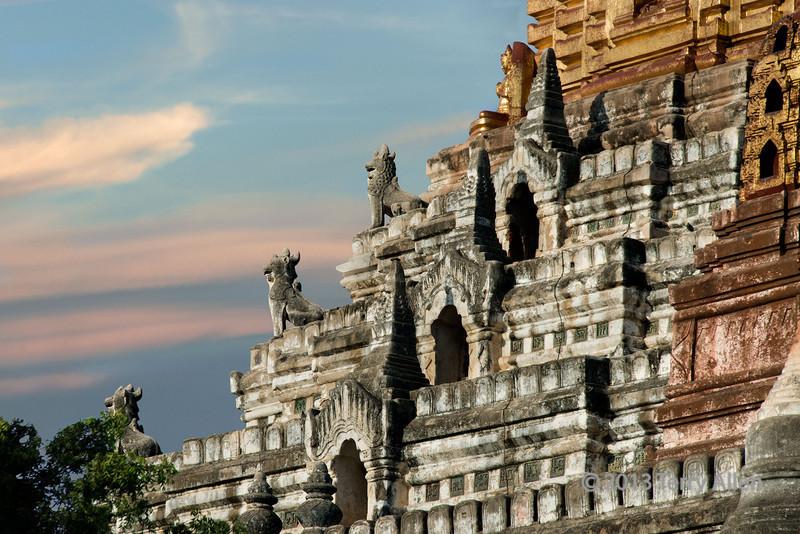 Detail of carvings-2, Ananda Temple, Bagan, Myanmar