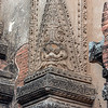 Remains of old plaster carvings, Htilominlo Temple, Bagan, Myanmar
