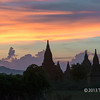 Temples with multi-coloured sunset, Bagan, Myanmar<br /> <br /> The alternative post.