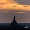 Bagan plains at sunrise, Bagan, Myanmar<br /> <br /> The various layers in the plains are best seen at larger sizes.
