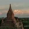 Temple at sunset, Bagan, Mayanmar