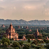 Bagan plains with Nwar Pya Gu Temple in the foreground, Bagan, Myanmar