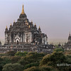 Thatbyinnyu Temple (c1150) near sunset, Bagan, Mayanmar<br /> <br /> This is the tallest temple and is a transitional temple and among the first of the double storied temples,  It has a projecting portico on the eastern side that breaks its symmetry.