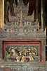 Leaded glass altar with Buddha, Nga Phe Kyaung monastery, Inle Lake, Myanmar