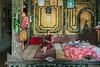 Monk with his books in the monastery, Shwe Yaunghwe Kyaung Monastery, Nyaungshwe, Myanmar (best larger)