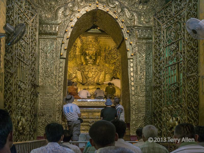 Mahamuni Buddha, Mahamuni Temple, Mandalay, Myanmar