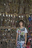 Young shop girl with Burmese puppets #2, Mandalay, Myanmar