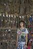 Young shop girl with Burmese puppets #2, Mandalay, Myanmar