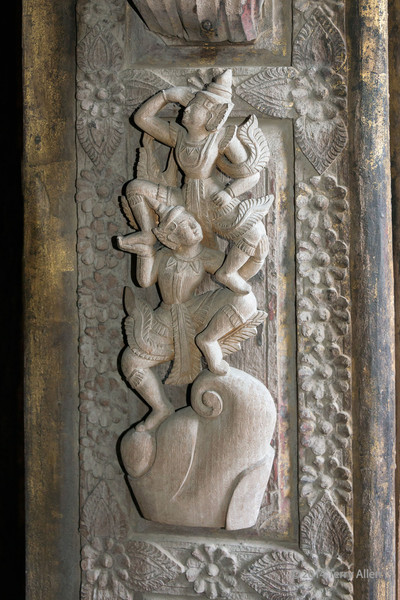 Carving detail #3, Shwenandaw Teak Temple, Mandalay, Myanmar