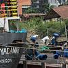 Stevedores unloading a freighter, Yangon, Myanmar