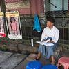 Palm reader, Yangon, Burma