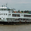 Ferry boat crossing the Irrawaddy River, Yangon, Myanmar