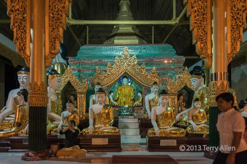 Schwedagon Pagoda at night, Yangon, Myanmar