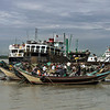 Dockside activities, Irrawaddy River, Yangon, Burma
