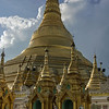 Schwedagon-Pagoda-3,-Yangon,-Burma<br /> <br /> This is the most famous shrine in Myanmar.  According to legend, 8 of the Buddha's hairs are enshrined beneath the dome.  The tradition is to make three clockwise circuits of the pagoda.