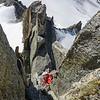 Climbing Aiguille Purtscheller (5a)