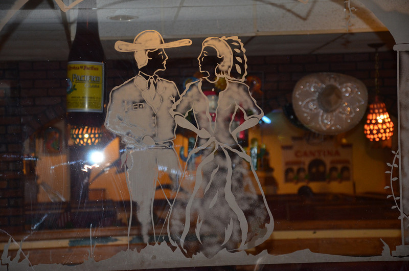 One of the glass etchings in the restaurant we had dinner in the other night.