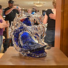 Took me two days to figure out this was a glass sculpture of Donald Duck. Taken at an art exibition at Disney Worl.d