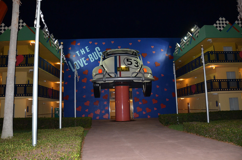 Herbie the Love Bug wing at the Disney Hollywood resort
