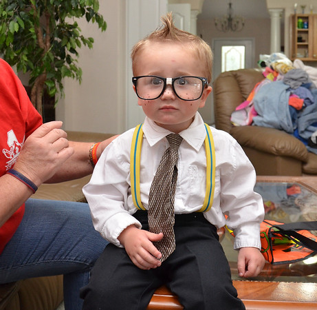 My grandson halloween costume , went as a nerd this year...
