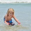 My grandson playing at the beach today.