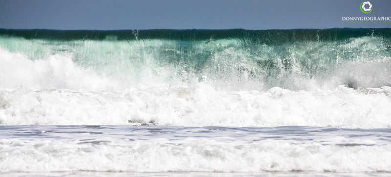 Up close to the waves in Seminyak Bali,