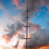 Mast and a sunset
