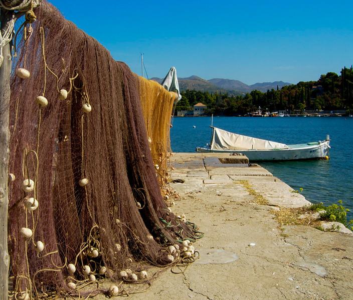 Fish nets in Croatia