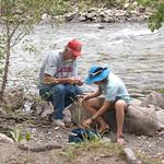 George helping LJ fish