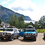 FJs with Crested Butte in the background
