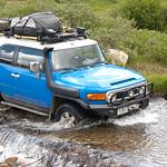 My FJ Cruiser crossing a creek