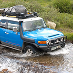My FJ Cruiser crossing a creek