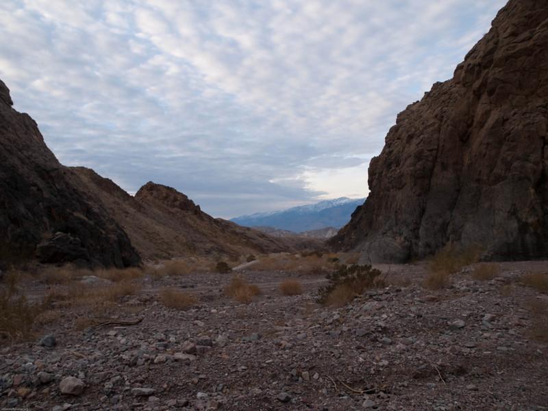 View down Echo Canyon