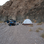 First nights camp in Death Valley