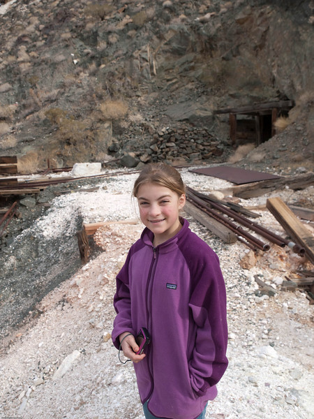 LJ checking out the mine