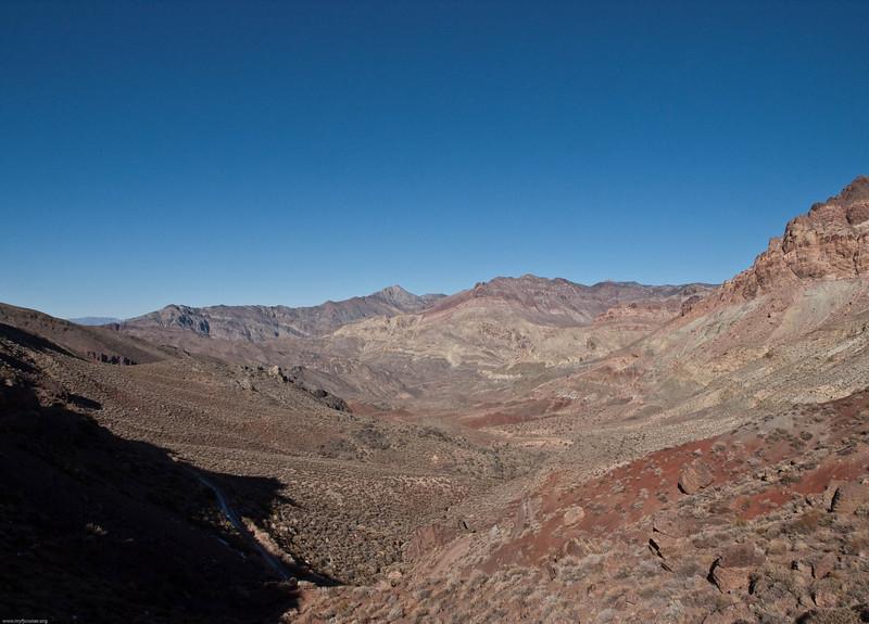 View down Titus Canyon