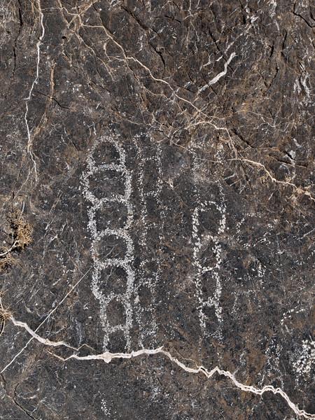 Rock art in Titus Canyon