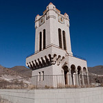 Clock tower at Scotty's Castle