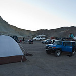 Camping in the subdivision at Furnace Creek