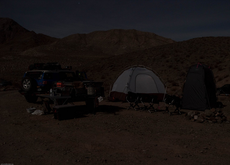 Moon light on our camp at Homestake Dry Camp