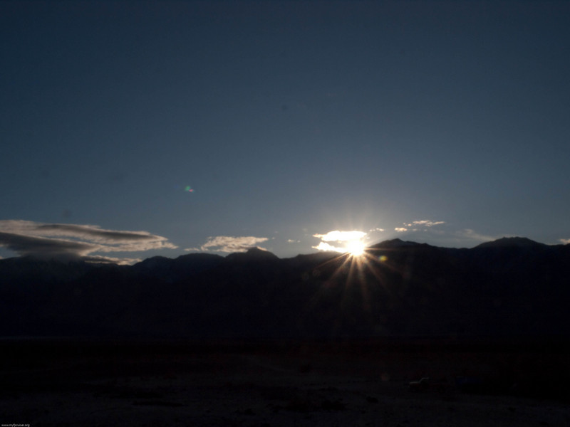 Sunset over the Inyo mountains