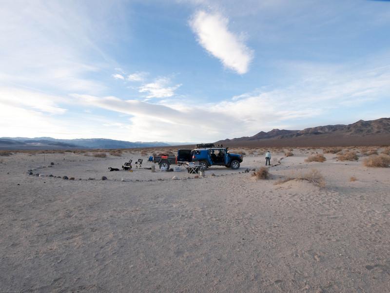 Camp at Eureka Dunes
