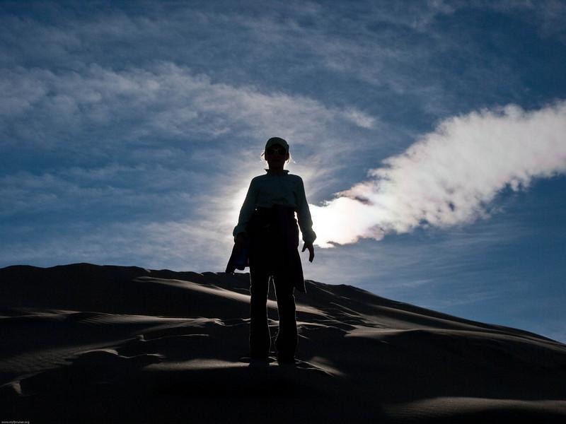 LJ on the dunes