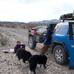 Lunch near Eureka Dunes