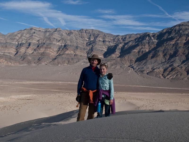 Tomas and LJ on Eureka Dunes