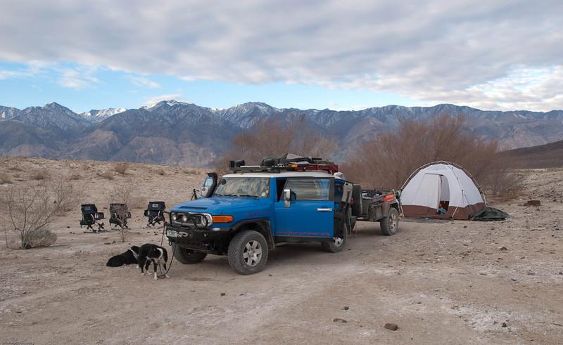 Camp at Saline Valley Warm Springs