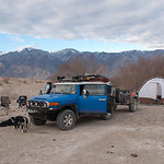 Camp at Saline Valley Warm Springs