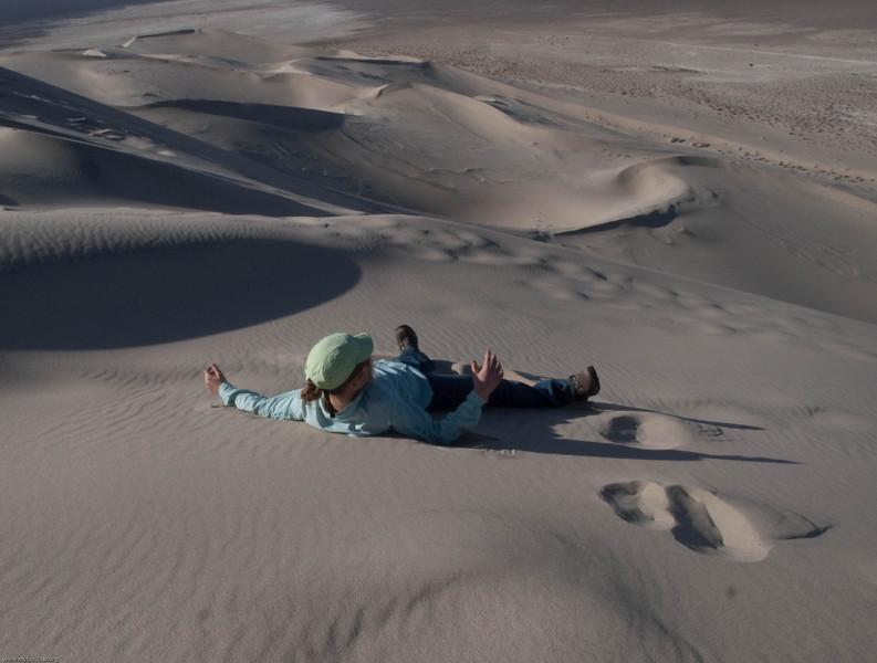 Making a sand angle