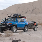 Ready to leave Eureka Dunes