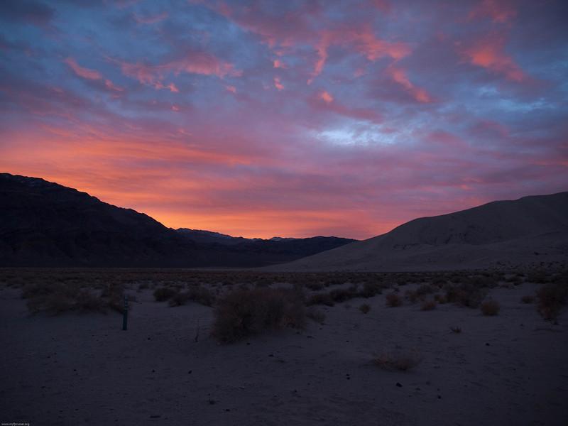 Sunrise over Eureka Dunes